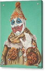 John Wayne Gacy As Pogo The Clown Acrylic Print by Brent Andrew Doty