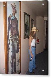 John Wayne Gallery Hondo 1953 Crystal Palace Saloon Helldorado Days Tombstone Arizona 2004 Acrylic Print by David Lee Guss
