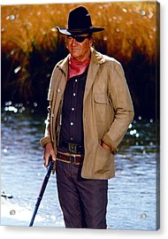 John Wayne In Rooster Cogburn  Acrylic Print by Silver Screen