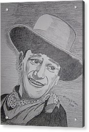 Acrylic Print featuring the painting John Wayne by Kathy Marrs Chandler