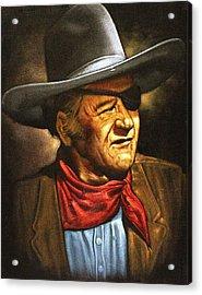 John Wayne Acrylic Print by Larry Stolle