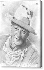 John Wayne Acrylic Print by Pat Moore