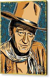 John Wayne Pop Art Acrylic Print by Jim Zahniser