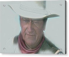 John Wayne Acrylic Print by Randy Follis