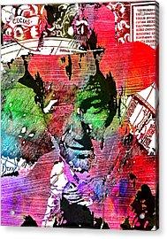 John Wayne Unmasked - Collage Acrylic Print