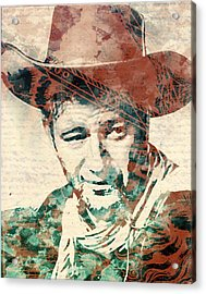 John Wayne Unmasked Acrylic Print
