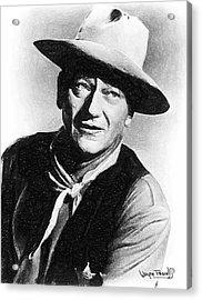 John Wayne Acrylic Print by Wayne Pascall