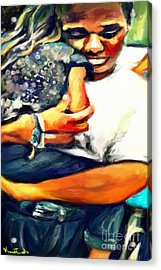 Johnelle Saving The World One Child At A Time Acrylic Print