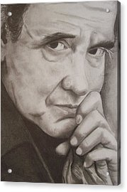 Johnny Acrylic Print by Amber Stanford