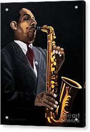 Johnny And The Sax Acrylic Print by Barbara McMahon
