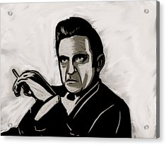 Johnny Cash Acrylic Print by Jeff DOttavio