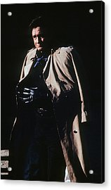 Acrylic Print featuring the photograph Johnny Cash Trench Coat Old Tucson Arizona 1971 by David Lee Guss