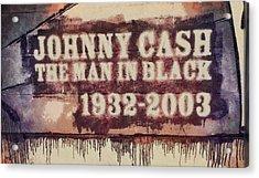 Johnny Cash Tribute Acrylic Print