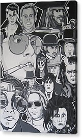Johnny Depp Character Tribute Acrylic Print by Gary Niles