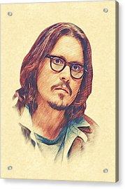 Johnny Depp Acrylic Print by Marina Likholat