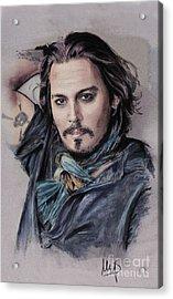 Johnny Depp Acrylic Print by Melanie D