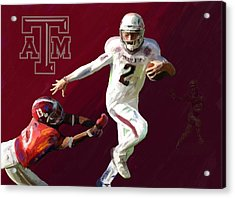 Johnny Football Acrylic Print by G Cannon