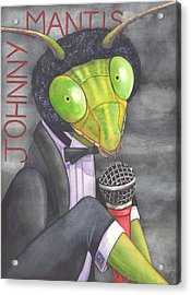 Johnny Mantis Acrylic Print by Catherine G McElroy