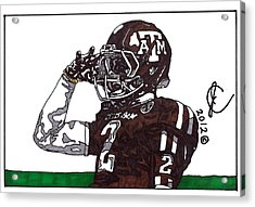 Johnny Manziel The Salute Acrylic Print by Jeremiah Colley