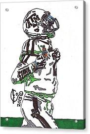 Johnny Manziel 4 Acrylic Print by Jeremiah Colley