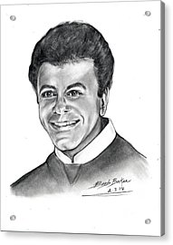 'johnny Mathis' Acrylic Print by Barb Baker
