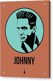 Johnny Poster 1 Acrylic Print by Naxart Studio