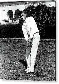 Johnny Revolta Playing Golf Acrylic Print