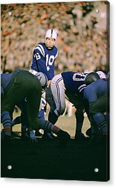 Johnny Unitas Ready  Acrylic Print by Retro Images Archive
