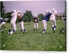 Johnny Unitas Running Up The Middle Acrylic Print by Retro Images Archive