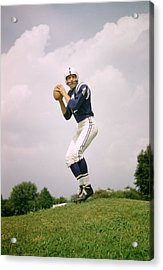 Johnny Unitas Set To Throw Acrylic Print by Retro Images Archive