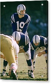 Johnny Unitas Under Center Acrylic Print by Retro Images Archive