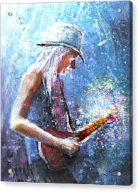 Johnny Winter Acrylic Print