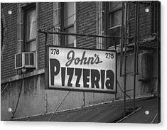 John's Pizzeria In Nyc Acrylic Print