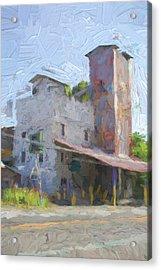Johnson City Texas Old Feed Mill Acrylic Print by JG Thompson