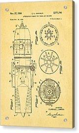 Johnson Jet Afterburner Patent Art 1956 Acrylic Print by Ian Monk