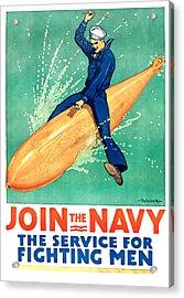 Join The Navy Acrylic Print
