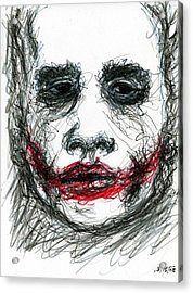 Joker - Not All Jokes Are Funny Acrylic Print by Rachel Scott