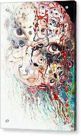 Acrylic Print featuring the mixed media Joker Of Junkadelphia by Douglas Fromm