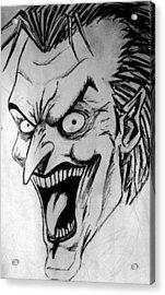 Acrylic Print featuring the painting Joker by Salman Ravish