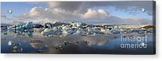 Jokulsarlon Glacier Lagoon Panorama Acrylic Print