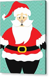 Jolly Santa Claus Acrylic Print by Linda Woods