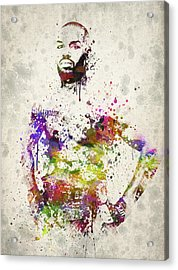 Jon Jones Acrylic Print by Aged Pixel
