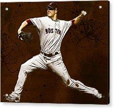 Jon Lester Former Boston Red Sox Acrylic Print by Dennis Wickerink