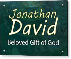 Jonathan David - Beloved Gift Of God Acrylic Print by Christopher Gaston