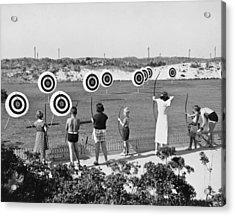 Jones Beach Archery Range Acrylic Print by Underwood Archives