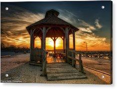 Acrylic Print featuring the photograph Jones Beach Sunset On Long Island New York by Linda Karlin