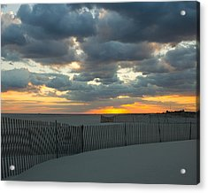 Acrylic Print featuring the photograph Jones Beach Sunset Three by Jose Oquendo