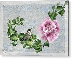 Acrylic Print featuring the painting Joni's Flying Jewel by Ella Kaye Dickey