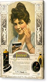 Jonteel 1900s Usa Face Cream Acrylic Print by The Advertising Archives
