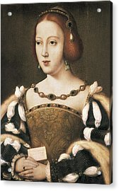 Joos Van Cleve 1485-1541. Eleanor Acrylic Print by Everett